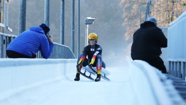 Natalie Geisenberger im Zieleinlauf. Die frisch gebackene Mama fuhr am Königssee auf Platz zwei. (Foto: BSD/ Bittner)