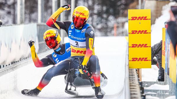 Trotz eines nicht ganz perfekten Laufs wurde es für Toni Eggert (vorn) und Sascha Benecken noch der dritte Platz und damit die zweite Sprint-Bronze ihrer Karriere. (Foto: FIL/Mareks)