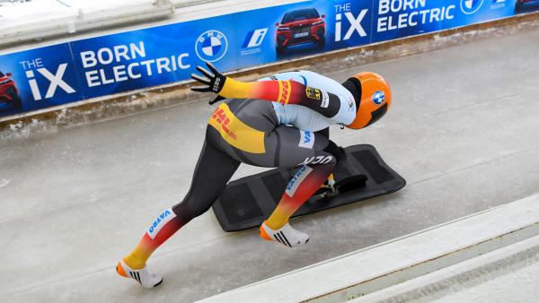 Die große Konkurrentin: Bis zum letzten Lauf sah Jacqueline Lölling noch wie die (fast) sichere Siegerin im Skeleton-Wettbewerb aus. (Foto: Viesturs Lacis)