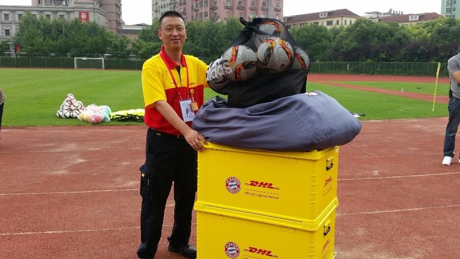 DHL was in charge of FC Bayern's equipment transfers in China
