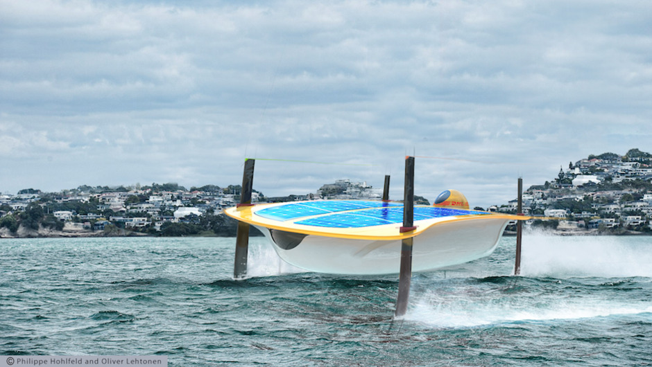 Water Strider is an autonomous hydrofoil electric-powered watercraft