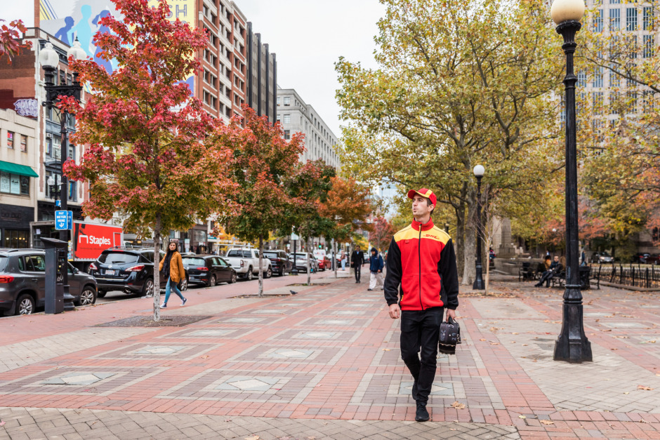 A colorful fall day in New England is a great time for walk, too.